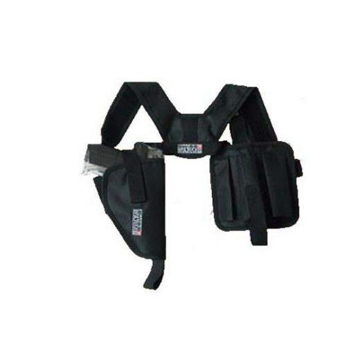 Holster d'épaule Airsoft horizontal noir Swiss Arms