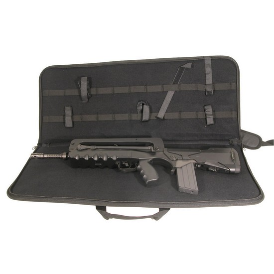 Housse transport Airsoft Famas noir Swiss Arms