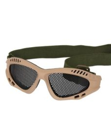 Lunettes tactiques Airsoft grillage Tan