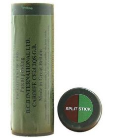 Maquillage camouflage Airsoft bicolore marron olive