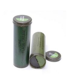 Maquillage camouflage Airsoft bicolore noir olive