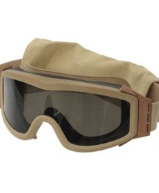 Masque tactique Airsoft tan-3 ecrans