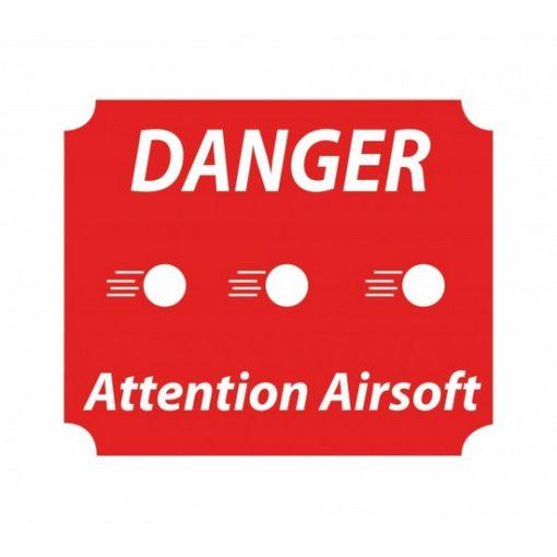 Panneau danger attention Airsoft