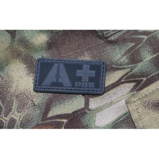 Patch militaire Airsoft Groupe Sanguin A+ noir