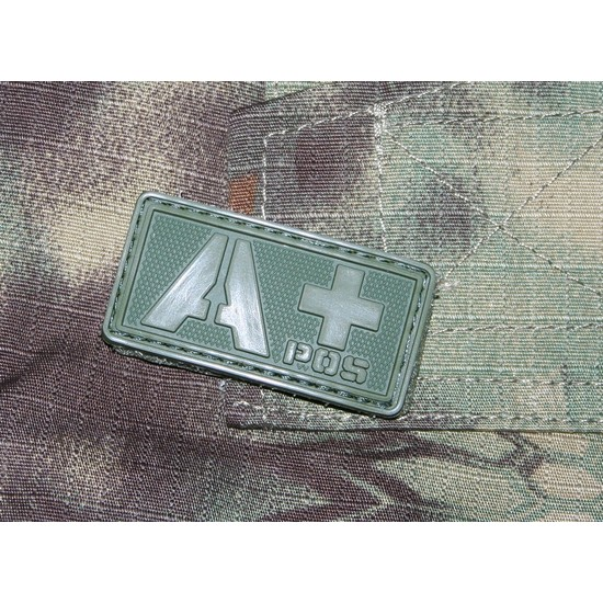 Patch militaire Airsoft Groupe Sanguin A+ olive