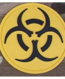 Patch militaire Airsoft Resident Evil jaune noir