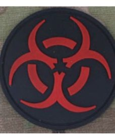 Patch militaire Airsoft Resident Evil noir rouge