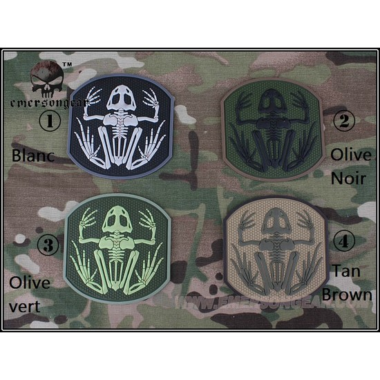 Patch militaire Airsoft Seal Skull Frog tan marron