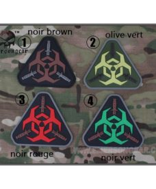 Patch militaire Airsoft Zombie olive vert