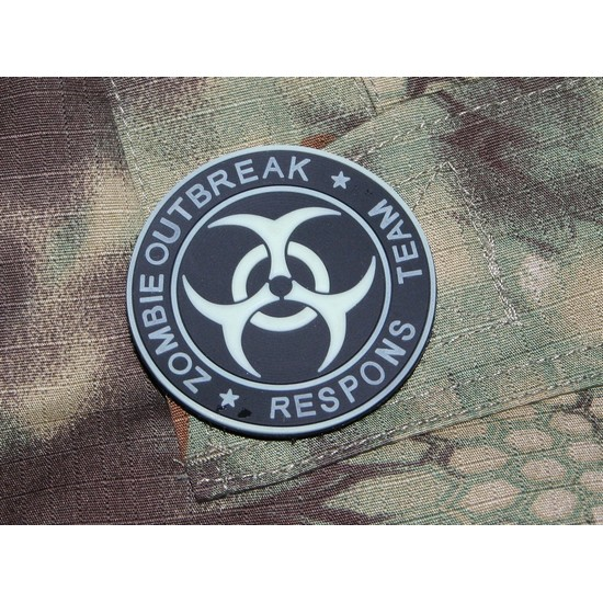 Patch militaire Airsoft Zombie Phosphorescent