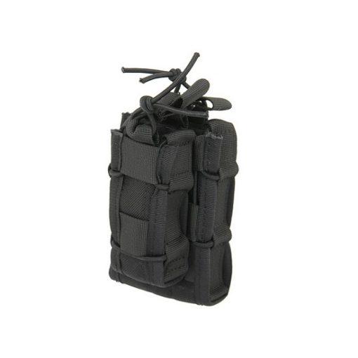 Poche Molle Airsoft noire taco double decker LV2
