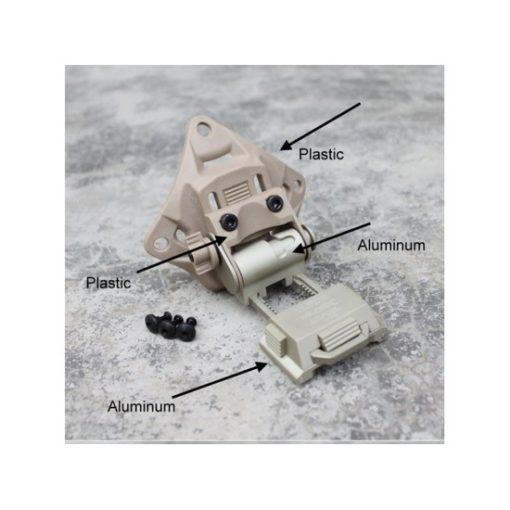 Support aluminium NVG18 pour casque tactique Tan
