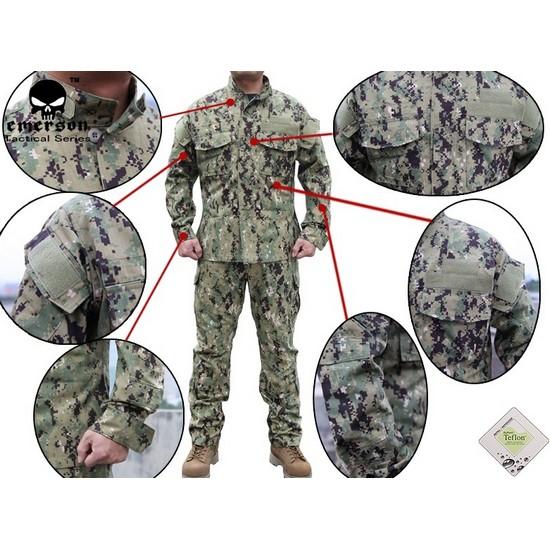 tenue de combat militaire emerson camouflage xl. Black Bedroom Furniture Sets. Home Design Ideas