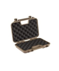 Valise transport tan polymere pour pistolet Airsoft 32 cm