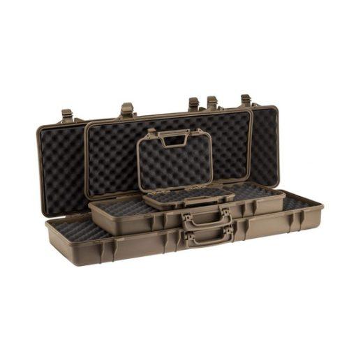 Valise transport tan polymere pour pistolet Airsoft 32 cm