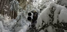 video sniper airsoft neige
