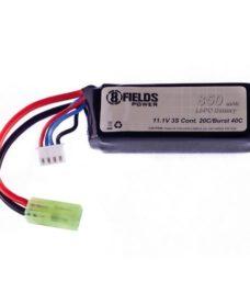 Batterie 8fields LiPo 11.1V 850 mAh 20/40c
