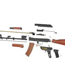 réplique Fusil AK74 RK06W AEG acier et bois complet Dboys