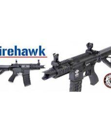 réplique Fusil Fire Hawk AEG noir complet G&G