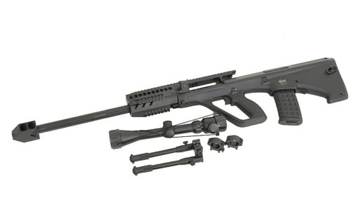 Fusil Sniper AUG 5G AEG lunette bipied complet Jing Gong