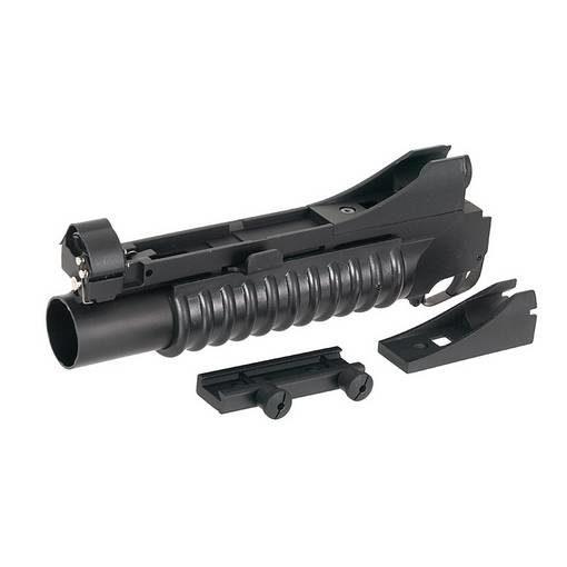 réplique Lance grenades Airsoft RIS M203 court + adaptateurs