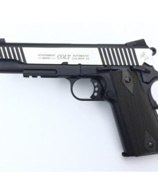 Colt 1911 rail gun bicolore culasse metal Blowback CO2 KWC