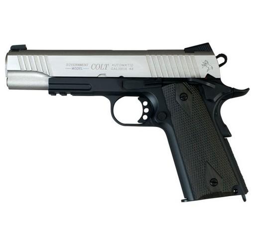 Colt 1911 rail gun bicolore noir culasse métal Blowback CO2 KWC