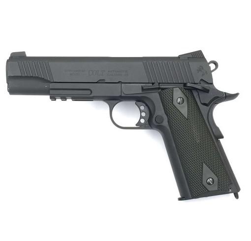 Colt 1911 rail gun Noir culasse metal Blowback CO2 KWC