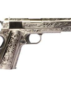 Pistolet 1911 silver Classic floral pattern GBB culasse métal WE