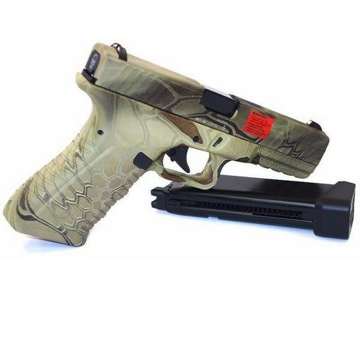 Pistolet G17 APS CO2 GBB V2 Kryptek Highlander