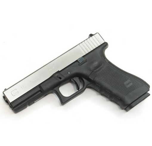 Pistolet G17 Gen4 GBB bicolore noir-chrome WE