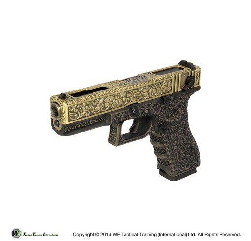 Pistolet G18C Classic floral pattern bronze GBB WE