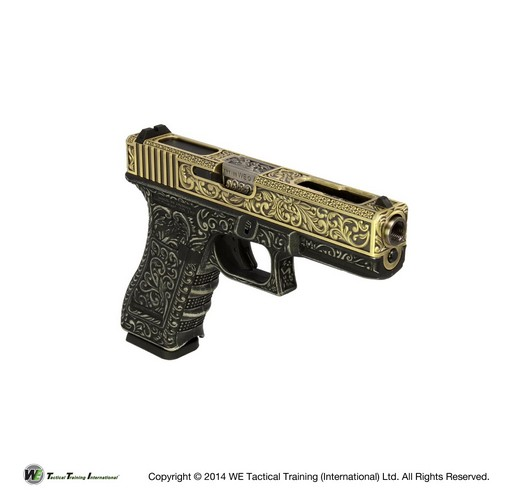 Pistolet G18C Classic floral pattern ivory GBB WE