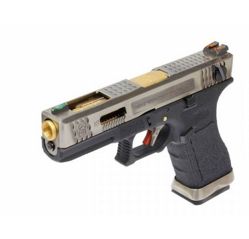Pistolet G18C Gforce T3 argent or noir GBB WE