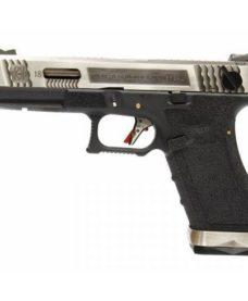 Pistolet G18C Gforce T7 argenté noir GBB WE