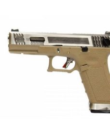 Pistolet G18C Gforce T8 argenté tan GBB WE