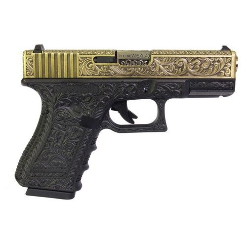 Pistolet G19 Classic floral pattern bronze GBB WE