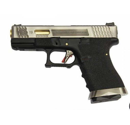 Pistolet G19 Gforce T3 argent or noir GBB WE