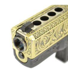 Pistolet G23 Classic floral pattern ivoire GBB WE