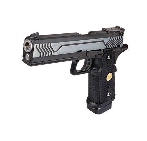 Pistolet Hi Capa 5.1 M1 noir metal Blowback WE