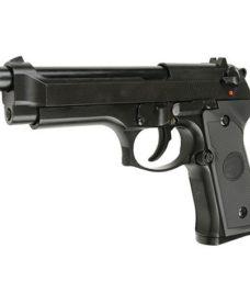 Pistolet M92 new version noir GBB valise Led WE