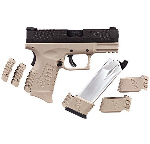 Pistolet XDM ultra compact 3.8 GBB tan 2 chargeurs WE