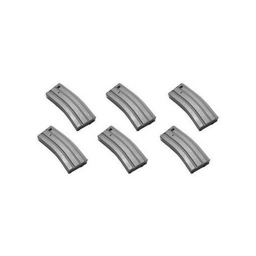 6 chargeurs métal M15 Mid-Cap 130 billes