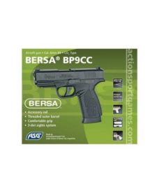 Bersa BP9CC Airsoft culasse métal CO2 GBB