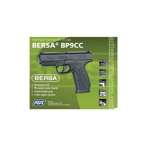 Bersa BP9CC Airsoft métal CO2