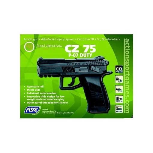 CZ 75 P-07 Duty Airsoft métal CO2