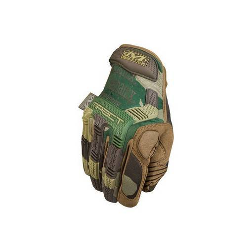 Gants Airsoft Mechanix M-PACT Woodland Taille S
