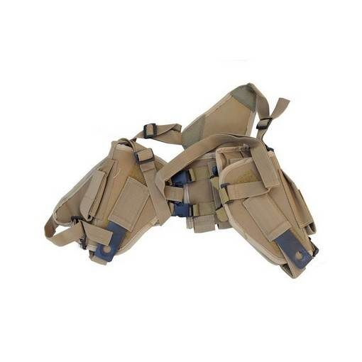 Holster horizontal Airsoft Tan porte-chargeur
