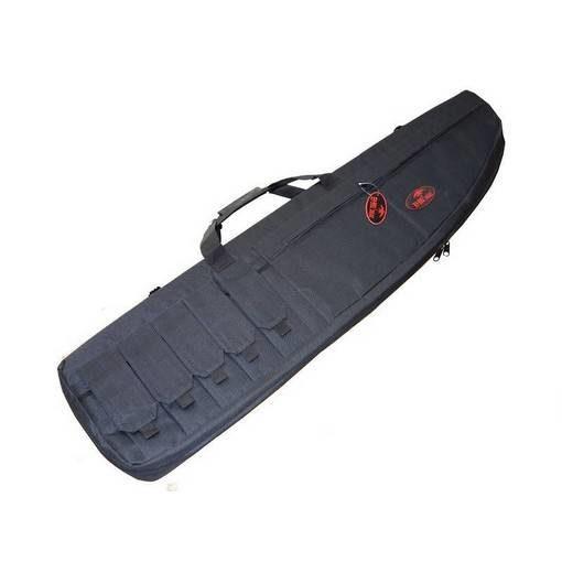 Housse réplique Airsoft noire 130cm 5 poches