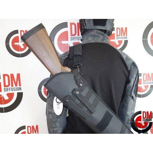 Housse transport fusil à pompe Airsoft noire